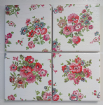 4 Ceramic Coasters in Cath Kidston Cranham Rose